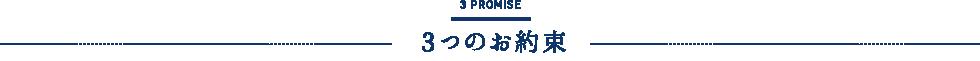 PROMISE 3つのお約束
