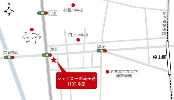 シティコーポ滝子通 地図